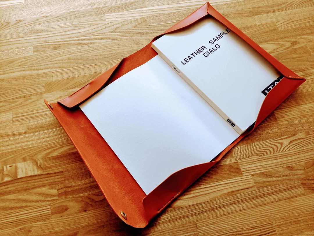 おしゃれな革のドキュメントケース_レザークラフト型紙 (1)