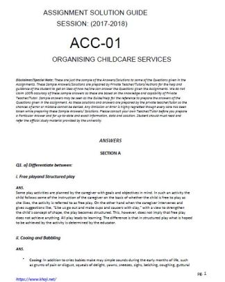ACC-01 Solved Assignment 2017 2018 Free for ignou bdp