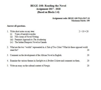 Download BEGE-108 Solved Assignment For IGNOU BDP 2018 Session
