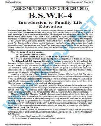 BSWE-004 Solved Assignment For IGNOU