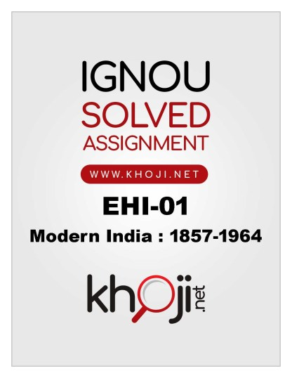 EHI-01 Solved Assignment 2019-20 IGNOU BA