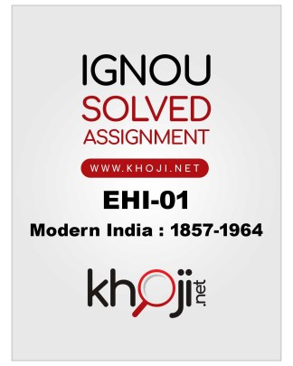 EHI-01 Solved Assignment 2019-20 IGNOU BA