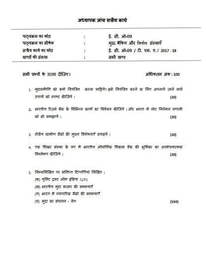 ECO-09 Solved Assignment In Hindi Medium IGNOU BCOM 2018