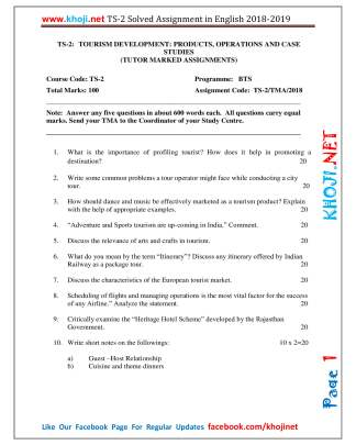 TS-2 Solved Assignment For IGNOU BTS 2018-2019