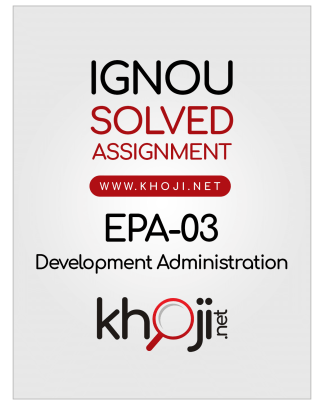 EPA-03 Solved Assignment Hindi Medium IGNOU BA BDP
