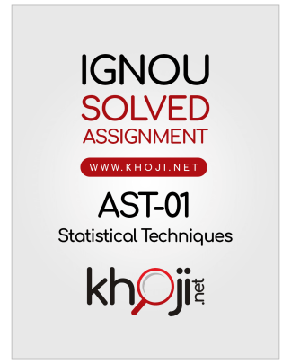 AST-01 Solved Assignment Statistical Techniques English Medium
