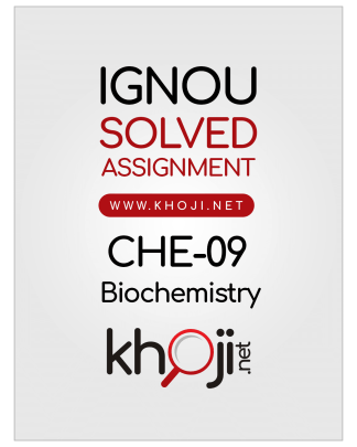 CHE-09 Solved Assignment 2019 Biochemistry English Medium