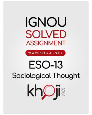 ESO-13 Solved Assignment English Medium IGNOU BDP BA