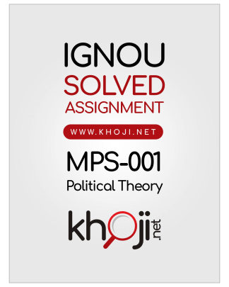 MPS-001 Solved Assignment 2019-2020 Political Theory English Medium