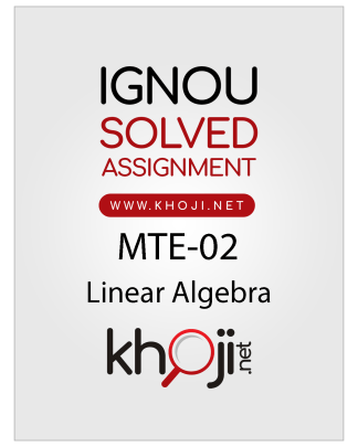 MTE-02 Solved Assignment For IGNOU 2019 Session