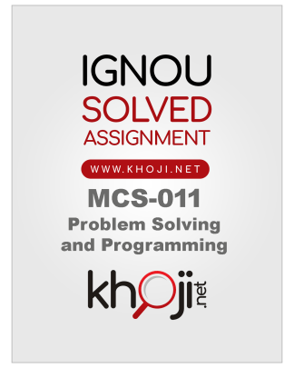 MCS-011 Solved Assignment IGNOU BCA MCA