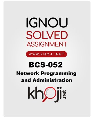 BCS-052 Solved Assignment Product Image