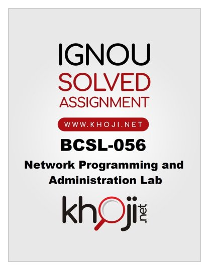 BCSL-056 Solved Assignment Product Image