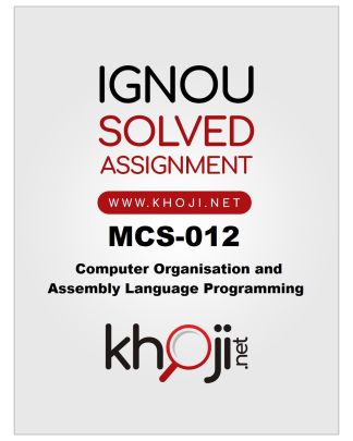 MCS-012 Solved Assignment 2019-2020 Product Image
