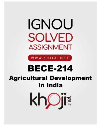 BECE-214 Solved Assignment For IGNOU BA Economics