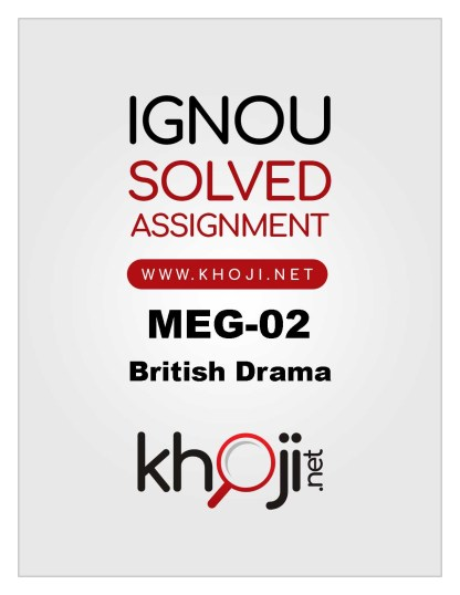 MEG-02 Solved Assignment IGNOU MA English