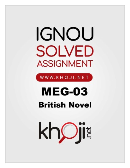 MEG-03 Solved Assignment For IGNOU MA Englsih