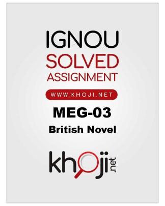MEG-03 Solved Assignment For IGNOU MA Englsih