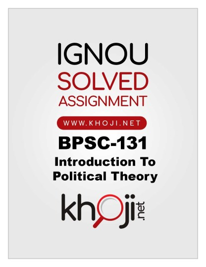 BPSC-131 Solved Assignment 2019-20 IGNOU BAG