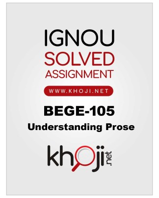 BEGE-105 Solved Assignment For IGNOU BDP BA