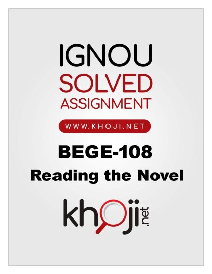 BEGE-108 Solved Assignment For IGNOU BA English