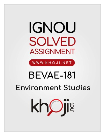 BEVAE-181 Solved Assignment English Medium For IGNOU BAG/BCOMG/BSCG