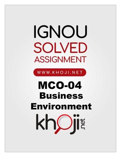 MCO-04 Solved Assignment For IGNOU MCOM English Medium