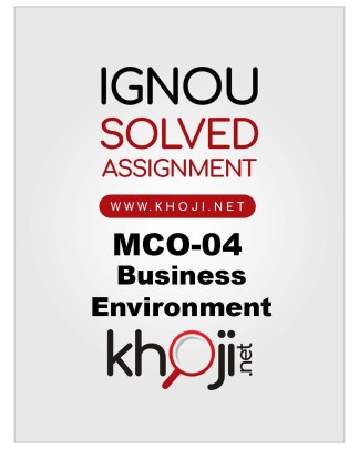 MCO-04 Solved Assignment For IGNOU MCOM English Medium