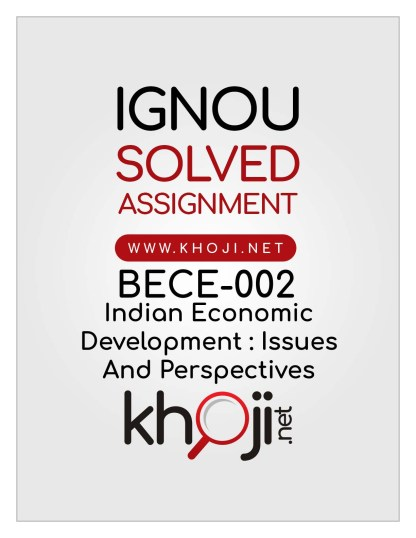 BECE-002 Solved Assignment English Medium IGNOU BDP