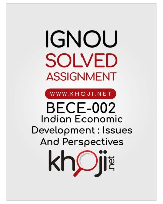 BECE-002 Solved Assignment English Medium IGNOU BDP
