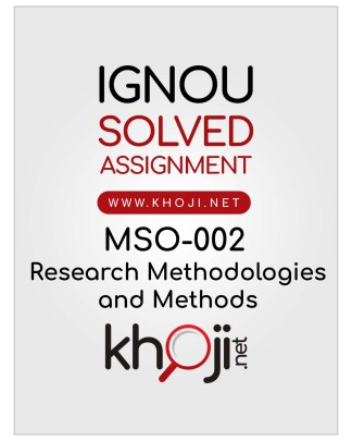 MSO-002 Solved Assignment English Medium For IGNOU MA Sociology