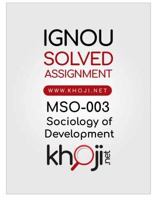 MSO-003 Solved Assignment English Medium For IGNOU MA Sociology