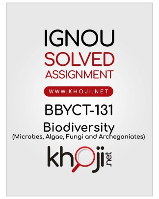 BBYCT-131 Solved Assignment English Medium IGNOU BSCG