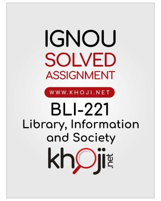 BLI-221 Solved Assignment In English Medium For IGNOU