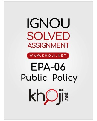 EPA-06 Solved Assignment Hindi Medium IGNOU BA BDP