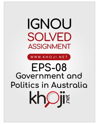 EPS-08 Solved Assignment English Medium For IGNOU BA BDP