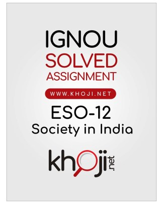ESO-12 Solved Assignment English Medium IGNOU BDP BA