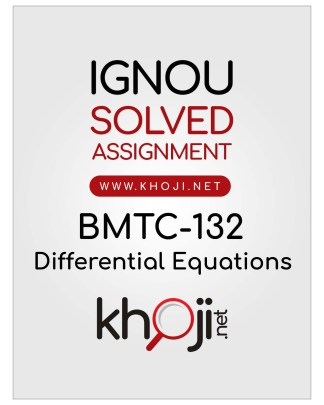 BMTC-132 Solved Assignment English Medium For IGNOU BSCG and BAG