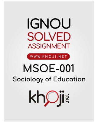 MSOE-001 Solved Assignment English Medium IGNOU MA Sociology