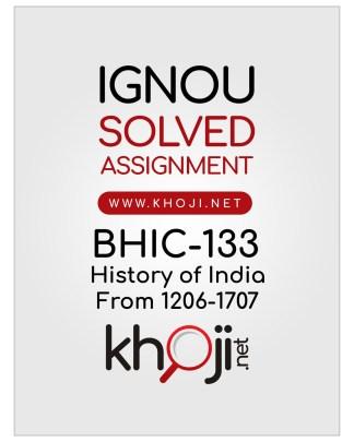 BHIC-133 Solved Assignment English Medium IGNOU BAG CBCS