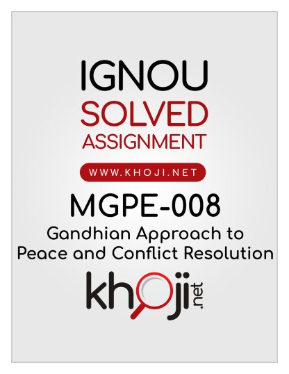 MGPE-008 Solved Assignment English Medium IGNOU MA