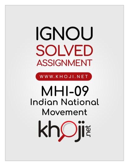 MHI-09 Solved Assignment English Medium IGNOU MA History