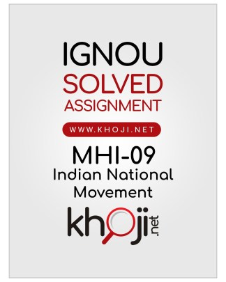 MHI-09 Solved Assignment English Medium IGNOU MA History