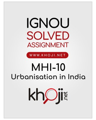 MHI-10 Solved Assignment English Medium IGNOU MA History