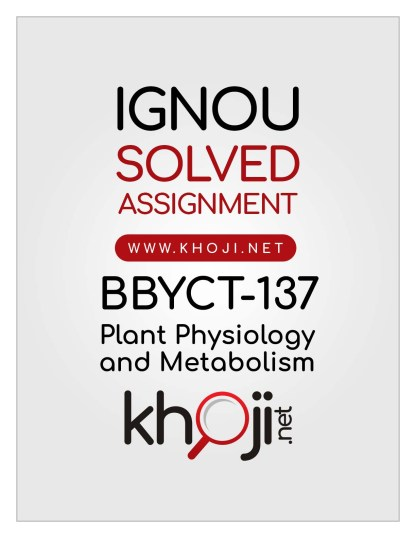 BBYCT-137 Solved Assignment In English Medium IGNOU BSCG