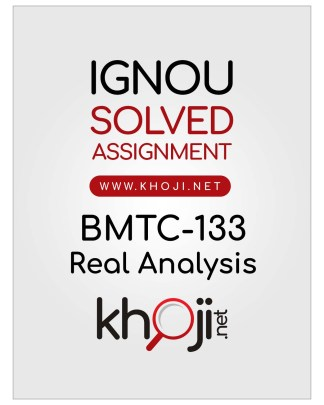 BMTC-133 Solved Assignment English Medium For IGNOU BSCG and BAG