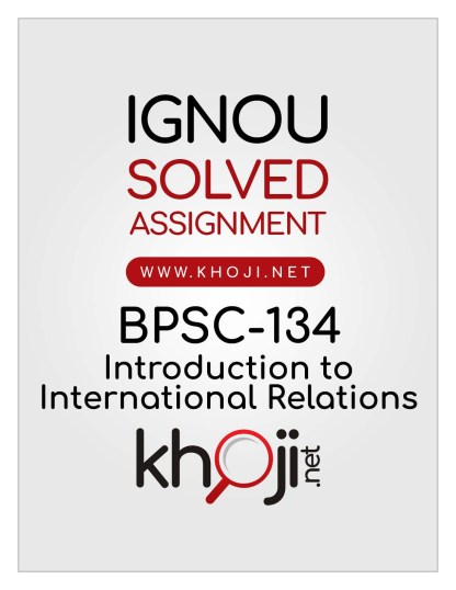 BPSC-134 Solved Assignment English Medium IGNOU BAG