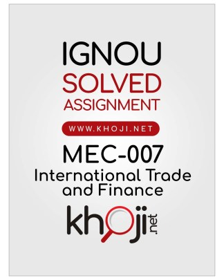 MEC-007 Solved Assignment English Medium IGNOU MA Economics