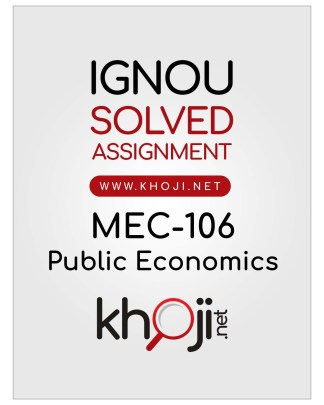 MEC-106 Solved Assignment English Medium IGNOU MA Economics MEC