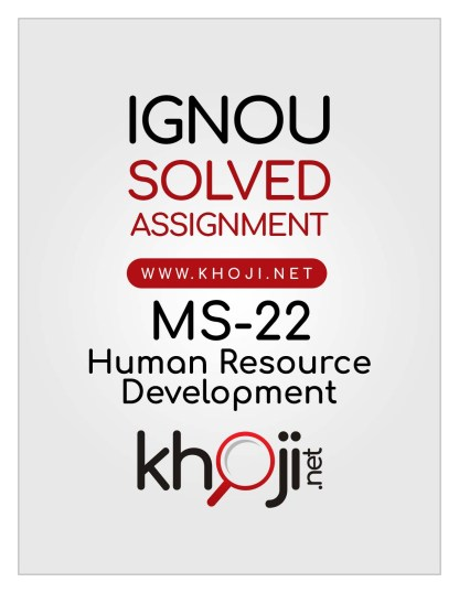 MS-22 Solved Assignment IGNOU MBA